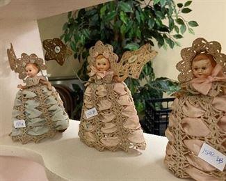 Vintage crocheted dolls