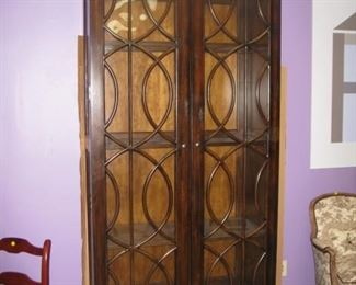 """Lighted display cabinet 86"""" tall"""