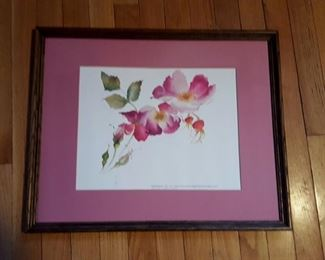 """Island Rugosa"" 15 1/2 x 13 signed and numbered print by Jean Kigel"