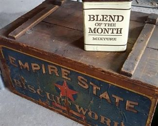Empire State Biscuit Works vintage crate