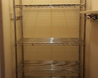 Chrome Wire Shelving - another next pictured