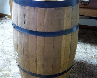 large wine barrel - perfect for table base