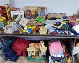 vintage toys - Fisher Price, Legos, trucks, dolls and games