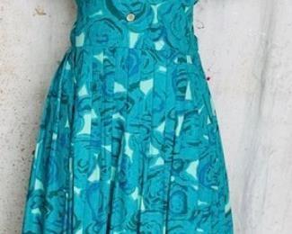 Colorful Print 1960s Dress