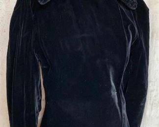 1930s Silk Velvet opera coat with amazing collar