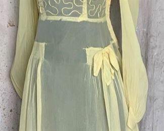 1940s Sheer Dress