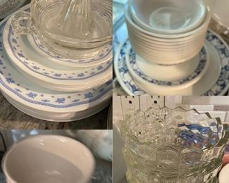 Corning wear crystal bowl, glass juicer