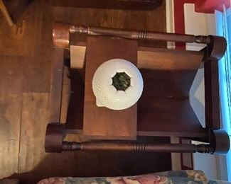Unique side table with moving parts