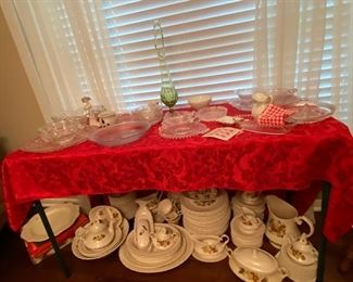Lots of Crystal including fire king and dishes from the early 1900s all in excellent condition