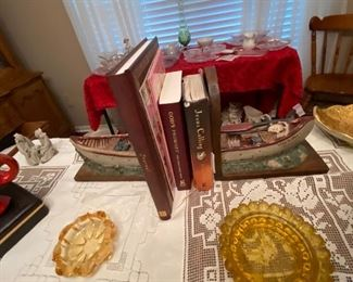 Canoe boat book ends