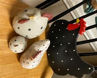 Polkadot roosters