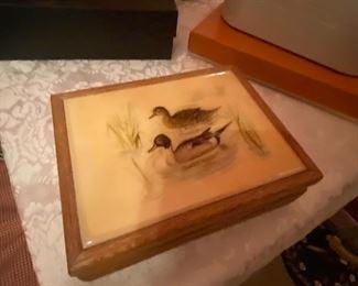 Vintage duck jewel box