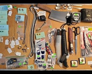 Jewelry, knives, military items