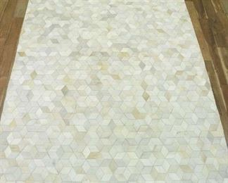 8'X11' Large Hand Stitched Calfskin Area Rug 2
