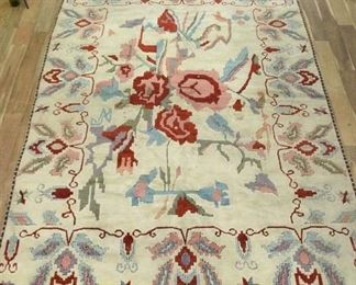 12X8 Hand Woven Ivory & Floral Motif High Pile Area Rug