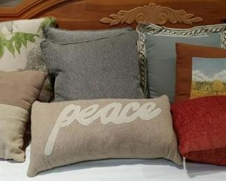 Lots of decorative pillows