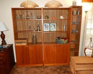 We have 3 of these mid-century bookshelves. Will sell separately.