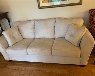 #5Cream microfiber Sofa 7ft $250.00