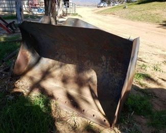 """55: Bucket Attachment fits JCB 407B Tractor Measures approximately 68"""" wide. Marked T12 and 06300"""
