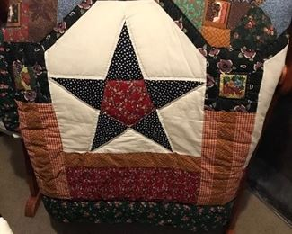 One of the hand made quilts