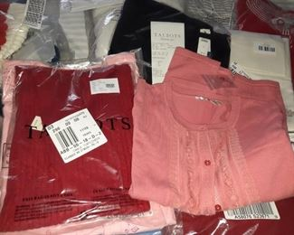 Hundreds of new in wrapper clothing for women size small to medium Talbots Etc