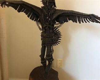 """Thunderbird""  Signed James Scorse welded metal sculpture"