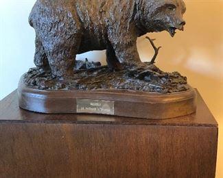 """Brown Grizzley "" Patrick O'Connor bronze sculpture."