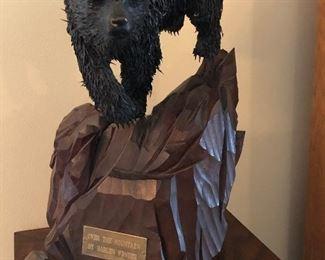 """Grizzley Bear"" Harlan Winter bronze."