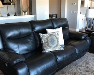 reclining sofa with phone charger