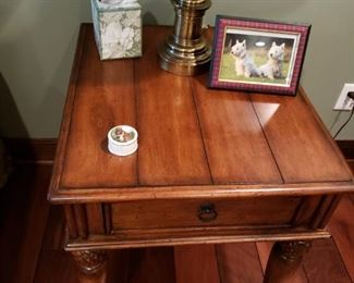 2- Century solid wood side tables