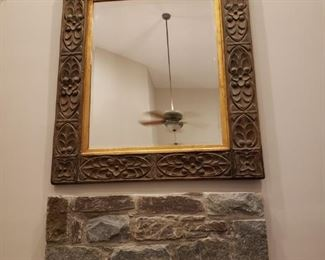 Hand carved mirror approx. 4' by 51/2'
