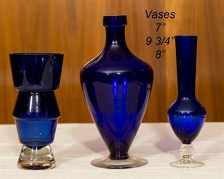 Cobalt Glass Vases