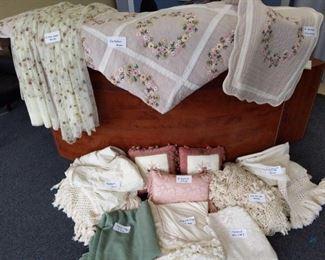 Complete Bedroom Linen Set with window treatments