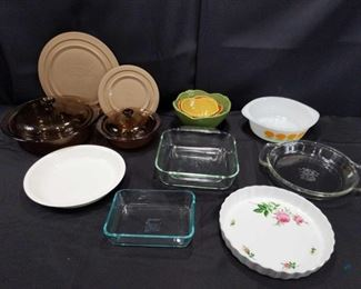 Corning, Pyrex and other baking and serving dishes