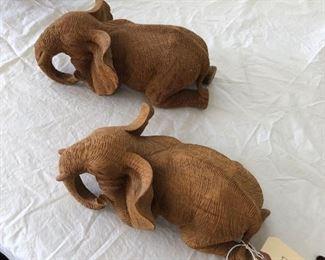 Carved elephants!