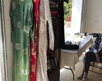 Chinese beautiful formal silk clothing and Thai women - small sizes vintage