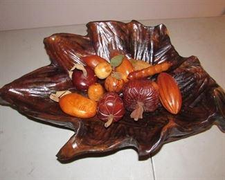 Huge hand carved wooden bowl