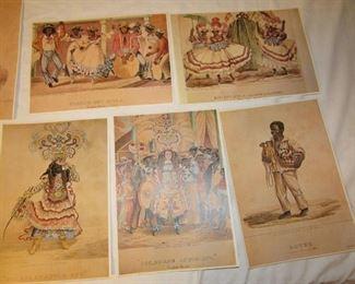 Vintage Jamaican prints