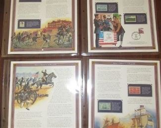 Postal Commemorative Society 50 Greatest Events US stamp collection.... 32 different sheets with stamps