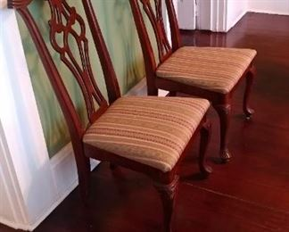 (23) Queen Anne style chairs