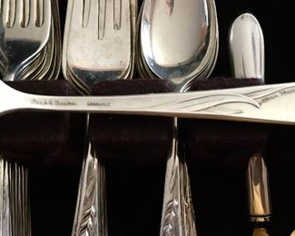 """Sterling Silver Reed & Barton """"Silver Wheat"""" Set of 12"""