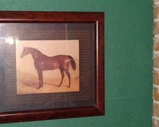 Living Room:  Vintage Horse Pictures