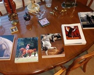 Living Room:  Horse Books