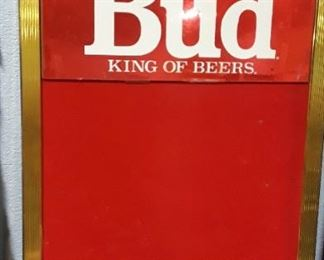 Bud King of Beer Sign