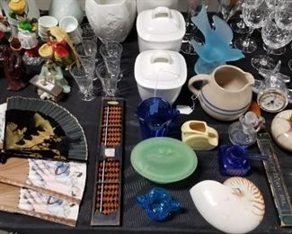 Glassware and oriental tinkets