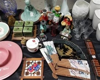 Glassware and Oriental Trinkets