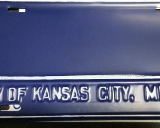 KCMO License Plate