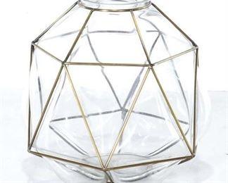 West Elm Brass & Glass Dome Votive