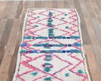 10X5 Boucherouite Vintage Moroccan Wool Berber Area Rug