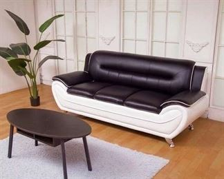 Orren Ellis Stcyr Black & White Sofa
